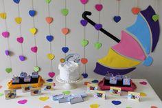 Painel Chuva de Amor e Papelaria - Arquivo Digital no Elo7 | Buba Shop (D1035B)