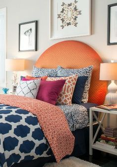 layer patterns and shades of blue bedding for designer look - Google Search