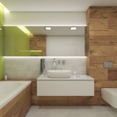 Moderní koupelna VALLEY - vizualizace Bathroom Inspiration, Alcove, Bathroom Lighting, Bathtub, Mirror, Studio, Bathrooms, Furniture, Home Decor