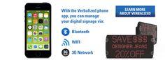 Wireless LED Message Board Sign Digital Signage, Message Board, Wifi, Smartphone, Messages, Led, Signs, Learning, Digital Signature