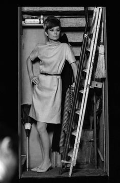 """Audrey Hepburn photographed by Terry O'Neill at the Studios de Boulogne, located on Avenue Jean-Baptiste-Clément, in Boulogne-Billancourt, a French commune in the Hauts-de-Seine départment, region of Île-de-France, in the western suburbs of Paris, during a break in the filming of her new movie """"How to Steal a Million"""", in September 1965"""