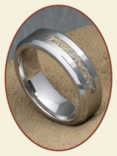 JB Memorials Cobalt Chrome Mens Cremation Ring