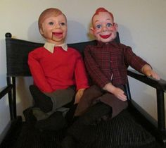 Ventriloquist Dolls 1970's Simon Sez and Howdy by FineRomance, $95.00