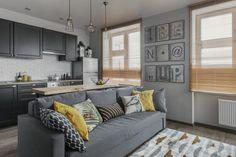 Példa 33m2-es kis lakás berendezésére - térszervezés dekoráció bútorok