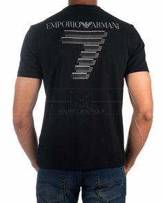 Camiseta EA7 Armani Negra - Train Soccer