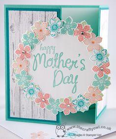 Happy Mother's Day, My Mother, Petite Petals, Hardwood, Circles Framelits, Joanne James UK Independent Stampin' Up! Demonstrator, blog.thecraftyowl.co.uk