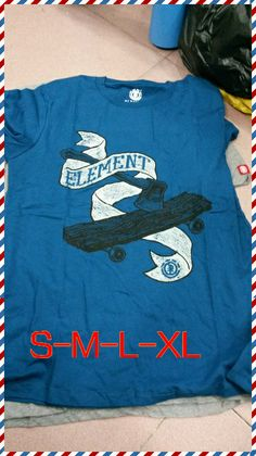 Free shipping blue/gray/black 6 style 2014 fashion hot sale men t shirts element skate board cotton round neck short sleeve Tee $17.69