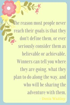 The reason most people never reach their goals is that the y don't define them, or ever seriously consider them as believable or achievable. Winners can tell you where they are going, what they plan to do along the way, and who will be sharing the adventure with them. #coaching #quote #success #motivation
