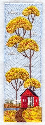 Country Panel Scene - Autumn design (A5933) from www.Emblibrary.com