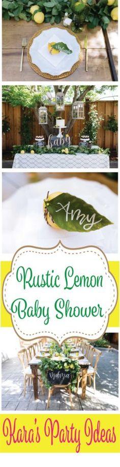 Rustic Lemon Baby Shower via Kara's Party Ideas