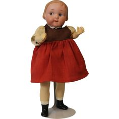 9.5 inch 241 Intaglio Eye Googly Doll By Armand Marseille Molded Hair from turnofthecenturyantiques on Ruby Lane