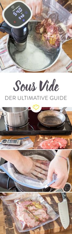 So geht Sous vide: Der ultimative Guide - Sous Vide Garen - Sous Vide Cooking, Cooking On The Grill, Healthy Eating Tips, Healthy Nutrition, Vegetable Drinks, Cuisines Design, Mushroom Recipes, Macaron, Vegan Snacks