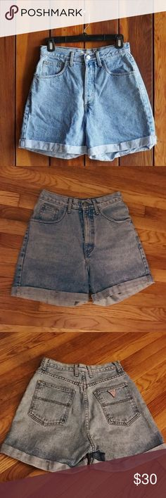 Vintage GUESS High Waisted Denim Shorts 🔸Vintage 90's Guess Mom Jean Shorts🔸cheaper on Ⓜ️ true to size Guess Shorts Jean Shorts