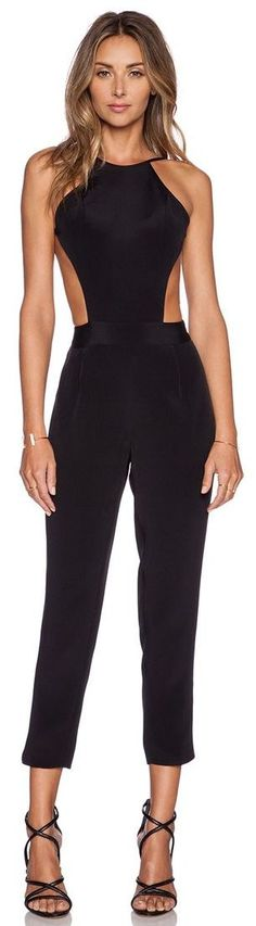 OLCAY GULSEN Exposed Top Jumpsuit in Black from Revolve Clothing