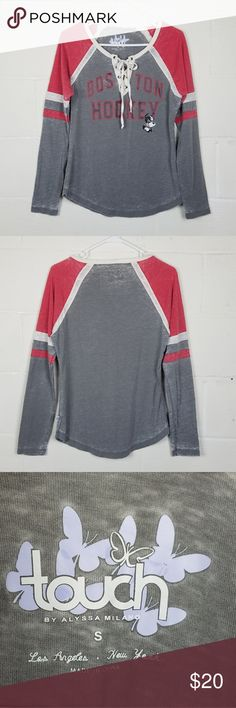 Portland Trail Blazers Womens XL Touch by Alyssa Milano Laced Up Sweater Gray
