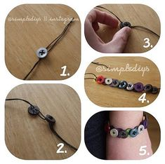 Button bracelet. This would be a fun DIY for kids or adults.
