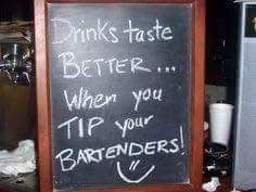absofuckinglutely they do! Bartender Quotes, Bartender Funny, Funny Tip Jars, Work Christmas Party Ideas, Creative Money Gifts, Game Room Bar, Card Box Wedding, Bar Drinks, Bar Signs