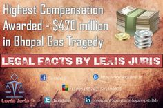 Legal Facts by Lexis Juris - Higest Compensation paid by Indian Govt. - $470 million in Bhopal Gas Tragedy