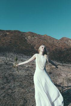 Mara Hoffman Exclusive Beaded Snake Bridal Gown