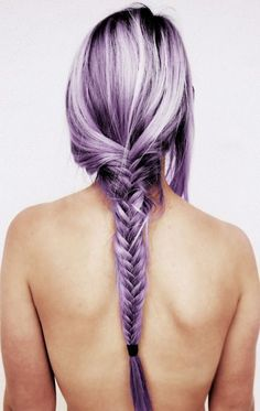 Purple Braided Girls Hair