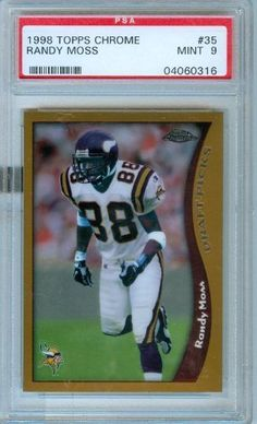 1998 Topps Chrome Randy Moss PSA Mint 9 Rookie Card by Topps. $35.00. 1998 Topps Chrome Randy Moss PSA Mint 9 Rookie Card