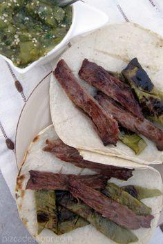 Tacos de nopal con arrachera –