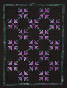 Grandmother's Choice quilt by Joanna Suter Amish Quilt Patterns, Amish Quilts, Churn Dash Quilt, Black And White Quilts, Colorful Quilts, Half Square Triangles, Vibrant Colors, Blanket, Ohio