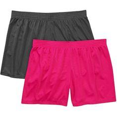 4146793924aa3 Danskin Now - Danskin Now Women s Plus-Size Mesh Shorts