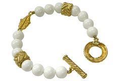 Givenchy Milk Glass Toogle Bracelet