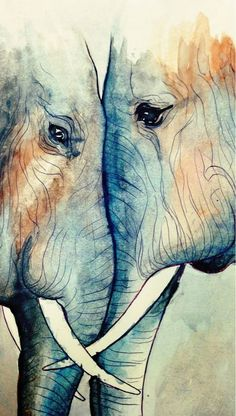 """radiantoptimism: """" I felt like messing around with watercolors some. Began with a simple ballpoint pen sketch in my Moleskine and painted over it. They look like they love each other to drawing elephant Image Elephant, Elephant Love, Water Color Elephant, Watercolor Animals, Watercolor Art, Elephant Watercolor, Elephant Sketch, Simple Elephant Drawing, Watercolor Paintings Tumblr"""
