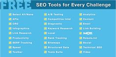 The 100 Best Free SEO Tools & Resources for Every Challenge - Interactive by Cyrus Shepard - 31 juillet 2013