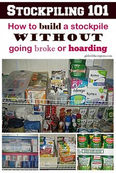 Stockpiling 101- How to Build a #Stockpile Without Going Broke or #Hoarding http://www.girlswithcoupons.com/couponing-101-how-to-start-using-coupons/stockpiling-101-how-to-build-a-stockpile-without-going-broke-or-hoarding/