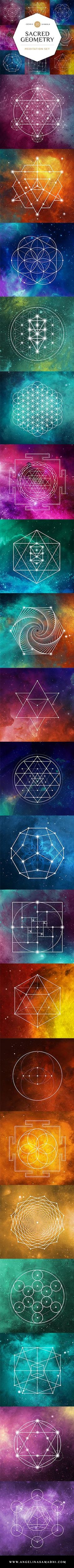 Stunning images! Use these!Studies have shown that meditating on sacred geometry can help strengthen the connection between the right & left hemispheres of the brain and remind you of your own infinite nature. https://www.angelina-samadhi.com/shop/sacred-geometry-meditation-set-1