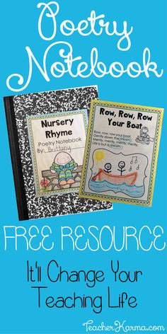 FREE Poetry Notebook Resource with Nursery Rhymes for teaching phonics, fluency, sight words, and comprehension - TeacherKarma.com