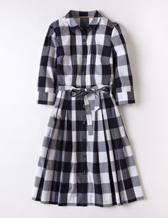 Gingham Shirt Dress WH662 Day at Boden