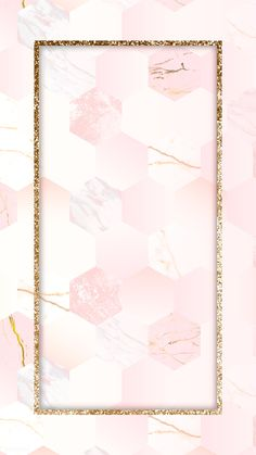 Gold rectangle frame on pink background vector   premium image by rawpixel.com / Kappy Kappy