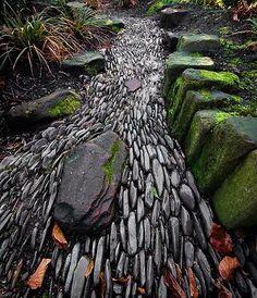 Dry Riverbed Rock Idea