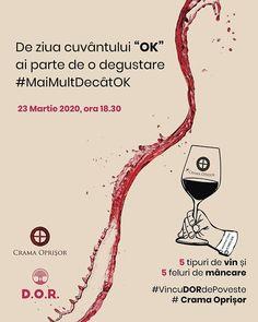 """#VincuDORdePoveste nu se oprește ci aduce cu sine frumusețea vinurilor premium cu personalitate.  De ce am ales ziua asta? Pentru că este ziua oficială a cuvântului """"OK"""" și ne dorim să descoperi vinul ce se potrivește cu personalitatea ta care e #maimultdecâtOK - este poveste  .  Detalii aici în bio sau pe pagina noastră de Facebook - DOR.    #retraiestecudor #restaurant #delicios #organic #romanesc #dracula #bran #brasov #coffe #coffee #transilvania #visitbrasov #draculacastle #travel #dor… Restaurant, Memes, Movie Posters, Wine, Diner Restaurant, Meme, Film Poster, Restaurants, Billboard"""