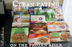 Think you have to ditch the frozen food aisles if you want to do clean eating? Think again!