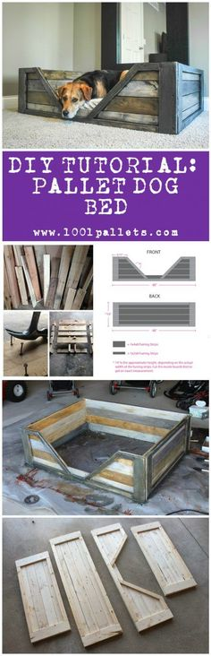 Diy Tutorial: Pallet Dog Bed