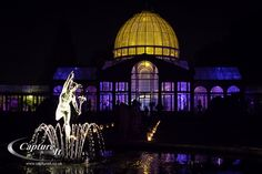 The beautiful conservatory at Syon Park at night.