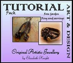 Wire Wrapping Tutorial Pack Rose Garden Ring and by BijouxEla