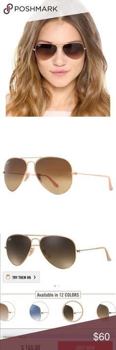 95a9116f4ac Ray Ban Aviators RB 3025 Large Metal Aviator 112 85 Lens - Brown Gradient  Frame