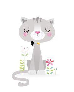 Girl nursery art Nursery decor Cat nursery print cute | Etsy Nursery Art, Girl Nursery, Nursery Decor, New Baby Gifts, Baby Girl Gifts, Woodland Nursery Prints, Girl Decor, Kids Prints, Cat Drawing