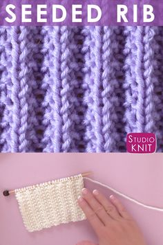 Seeded Rib Stitch Knitting Pattern Seeded Rib Stitch Knitting Pattern,Studio Knit The Seeded Rib Stitch Pattern creates thick, textured rows. This Repeat Knit Stitch Pattern is a simple combination of knits and purls. Knitting Squares, Beginner Knitting Patterns, Knitting Basics, Easy Knitting Patterns, Knitting Videos, Knitting Designs, Knitting Projects, Stitch Patterns, Crochet Patterns