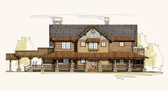 Allegheny | Timber Frame House Plans | Rustic House Plans