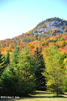 Cliffs at Indian Lake NY in the Adirondack mountains by Gary F. Dean