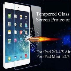 ipad mini 4 Anti-scratch Tempered Glass Screen Protector Case For apple ipad air 1 2 For ipad mini 1 2 3 Ultrathin Clear Film Screen Protective Film