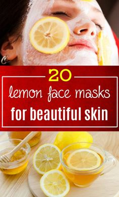 Lemon face mask 4 beautiful skin