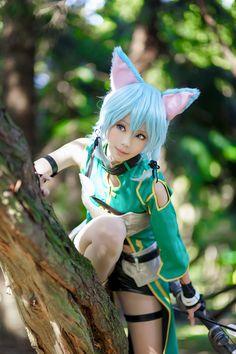 Anime-Sword-Art-Online-Sinon-neko